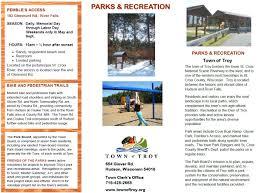 193 best brochure design u0026 township parks park brochure town of troy st croix county