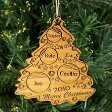 personalized christmas ornament wooden laser engraved decoration
