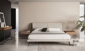 linea queen bed area furniture for the modern home
