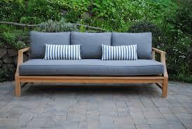 capitola deep seating sofa with sunbrella cushions paradise teak