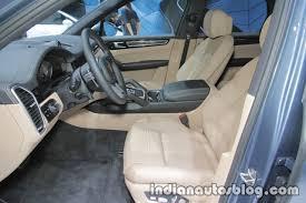 Porsche Cayenne Interior - 2018 porsche cayenne s interior at iaa 2017 indian autos blog
