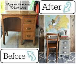 Modern School Desk Modern Farmhouse Inspired School Desk Makeover Hometalk