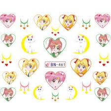 multi japanese girls beauty sailor moon anime nail art stickers