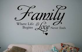 23 family where life begins and love never ends wall decal buy family where life begins and love never ends wall decal