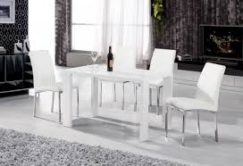 dining room sets 4 chairs white gloss table and chairs images stunning white gloss table