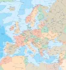 Country Map Of Europe by European Countries Map