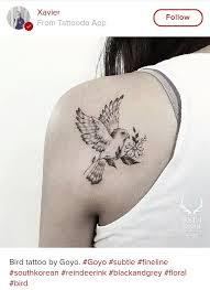 the 25 best bird and flower tattoo ideas on pinterest feminine