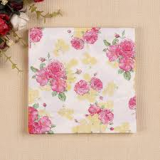 floral tissue paper 20 pcs small floral paper napkin tissue paper 100 wood