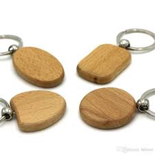 wooden key chain diy blank wooden key chain ring holder personalized edc wood
