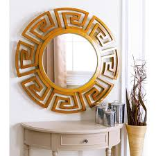 Circle Wall Mirrors Abbyson Living Sol Round Silver Wall Mirror