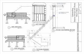 deck plans with tub home u0026 gardens geek
