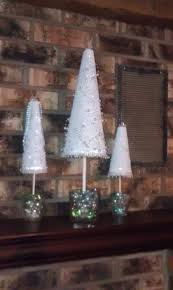 styrofoam christmas trees i made christmas crafts pinterest