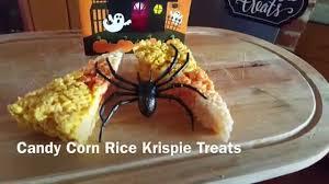 candy corn rice krispie halloween treats youtube