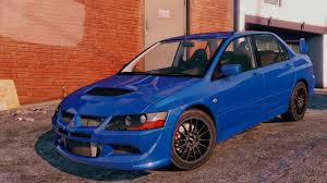 mitsubishi blue mitsubishi lancer evo 8 mr tuning gta5 mods com