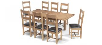 Rustic Oak Dining Tables Rustic Oak 132 198 Cm Extending Dining Table And 8 Chairs