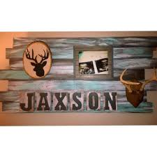 diy name board for a rustic hunting themed nursery deer and