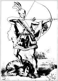 native american hunting clipart clipartxtras