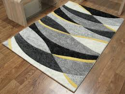 Gray And Yellow Rugs Black And Yellow Rugs Rug Designs