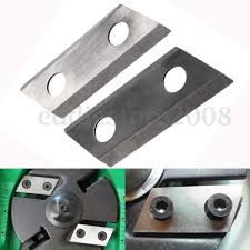 1 pair garden shredder chipper blades cutters fit for eco es1600