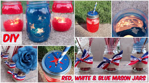 diy three ways to decorate jars for the 4th of july