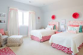 Pink And White Bedrooms - pink and white floral headboards for twin room decor crave