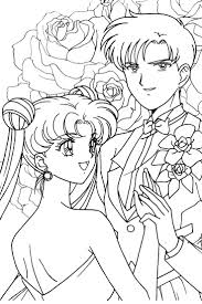 57 best sailor moon coloring pages images on pinterest