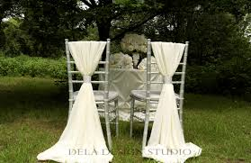 wedding chair bows 2 x wedding chiffon chair sash white wedding chair