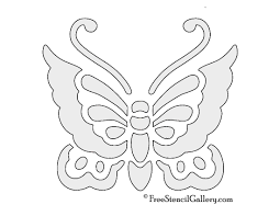Halloween Carving Stencils Printable Free by Butterfly Stencil 02 Free Stencil Gallery