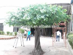 make cheap outdoor artificial big trees large artificial banyan