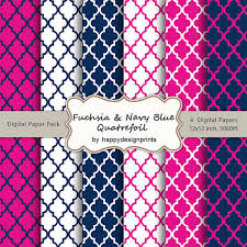 blue quatrefoil wallpaper fuchsia navy blue quatrefoil moroccan tiles pattern