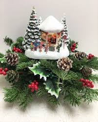 natural thomas kinkade north pole centerpiece 60 74 99