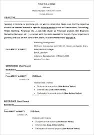 exle of an resume an exle of resume resume template exle resume exle free