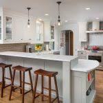Transitional Pendant Lighting Kitchen - bar height kitchen kitchen rustic with pendant lights transitional
