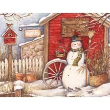 boxed cards winter barn artist susan winget