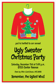 ugly sweater party invitation wording u2013 frenchkitten net