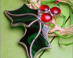 41 best stained glass mistletoe u0026 holly images on pinterest