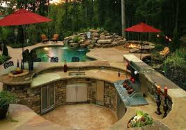 Small Backyard Design Backyard Designs With Pool And Outdoor Kitchen Home Planning