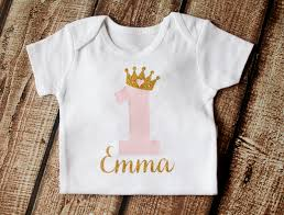 birthday onesie pink and gold personalized princess birthday onesie