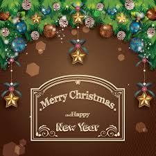 brown christmas poster merry christmas poster card vector material01 free vector