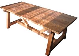 reclaimed trestle dining table reclaimed wood trestle dining table awesome reviews houzz pertaining