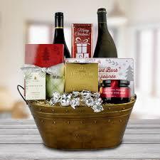 christmas wine gift baskets christmas wine gift baskets the pole wine gift basket