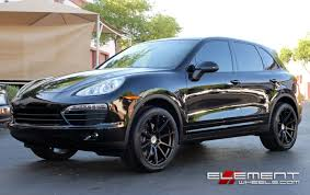 porsche suv 2014 21x10 5 niche essen black on 2014 porsche cayenne non turbo w