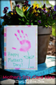 handmade mother u0027s day card idea hand print flower card