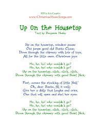 printable lyrics printable pdf of the lyrics to up on the housetop attractive lyrics