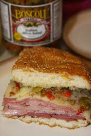 gambino s olive salad for the of food new orleans muffuletta sandwich with olive salad