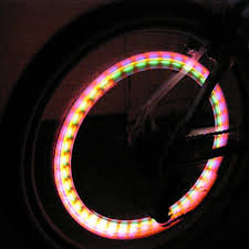 led bicycle tire lights spinning bike lights glowproducts
