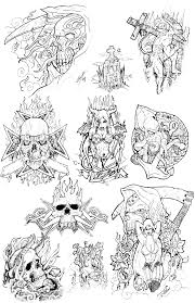 style evil skull tattoos sketch tattoomagz