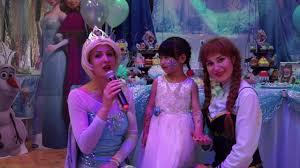 frozen themed party entertainment frozen themed party elsa anna olaf entertainment youtube