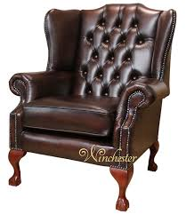 Traditional Leather Armchairs Uk Chesterfield Highclere Claw Ball Wing Chair Uk Manufactured