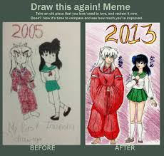 Inuyasha Memes - before and after meme inuyasha and kagome by hanyougirl2010 on